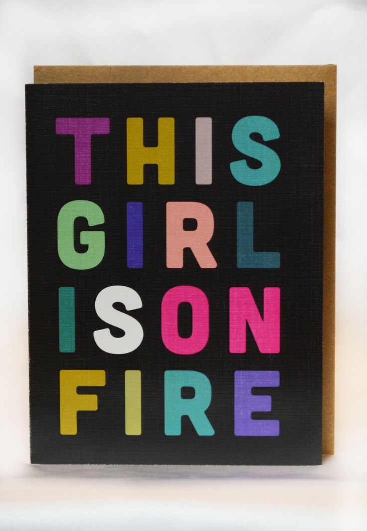 girl on fire card