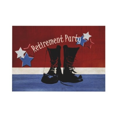 Military Retirement Party Announcements by cowboyannie