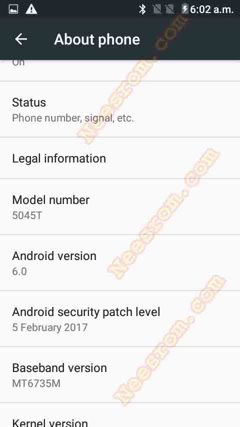 Alcatel TCL 5045T PIXI 4 5 4G firmware Rom Flash File from the