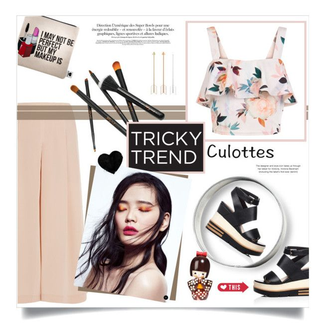 Chic culottes by pippi-loves-music on Polyvore featuring polyvore fashion style New Look TIBI Victoria Beckham Sephora Collection clothing TrickyTrend