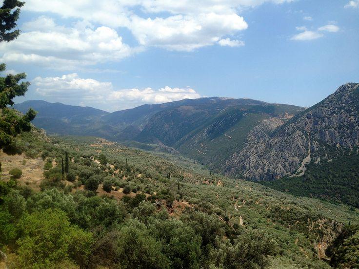 The mountains of Delphi, Greece