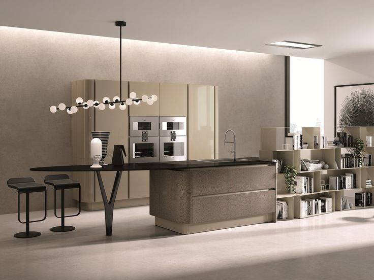Download the catalogue and request prices of Domina | kitchen with island By aster cucine, lacquered kitchen with island design Lorenzo Granocchia, domina Collection