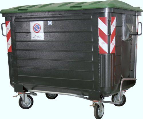 Contenedor de residuos metal / 4 ruedas 1 700 l   GRA-600 GRECO-ECOLOGY