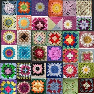 My virtual #grannysquare #blanket for #grannysquareday2015   #crochet #crochetersofinstagram