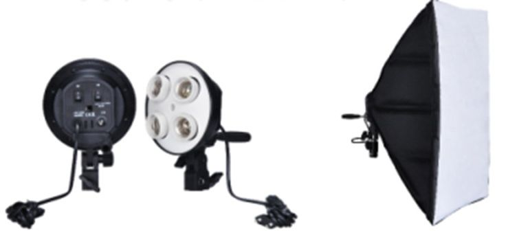 Осветитель NiceFoto G804C-1 с софтбоксом 50x70 см и патроном под 4 лампы