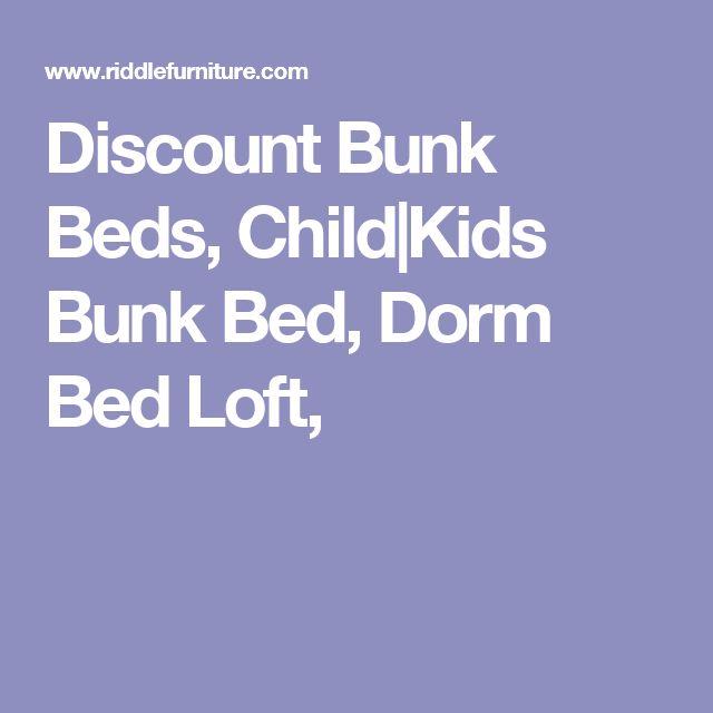 Discount Bunk Beds, Child|Kids Bunk Bed, Dorm Bed Loft,