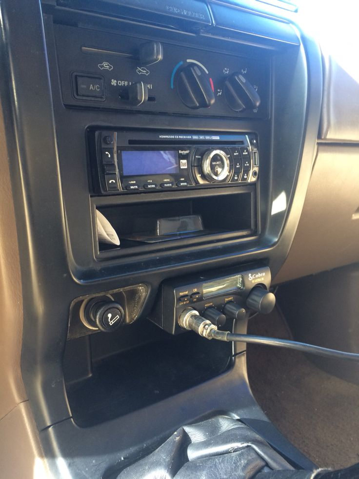3rd gen 4Runner CB radio  1998 Toyota 4runner. Took out the ash tray and slid in this Cobra 19 ultra iii. Walmart $34 plus tax. Works great.