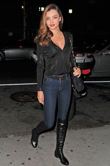 Emulnado a Miranda, con su camisa negra, pantalón pitillo y sus botas un look para cualquier ocasión!  www.mujernova.es