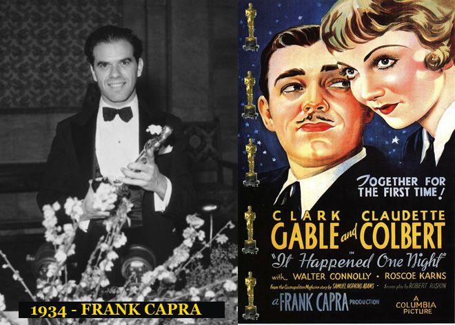 Oscar al mejor Director por la película Sucedió una Noche 1934-1935. La ceremonia de premiación es en Febrero de 1935.