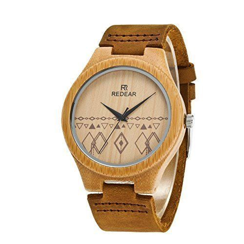 Bamboo Wooden Watches Women Gifts Modern Leather Bracelet Strap High Quality New #BambooWoodenMenWatches