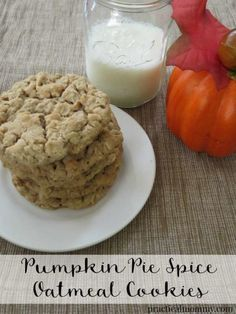 These Pumpkin Pie Spice Oatmeal Cookies are perfect for Fall. They taste like pumpkin pie and they smell fabulous. Just the smell alone will have you thinking about all things Fall.
