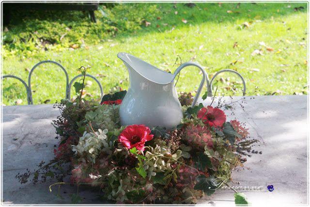 wreath of hydrangea, fall, autumn, hydrangea garland