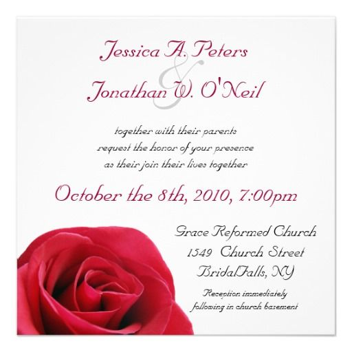 192 best rose wedding invitations images on pinterest, Wedding invitations