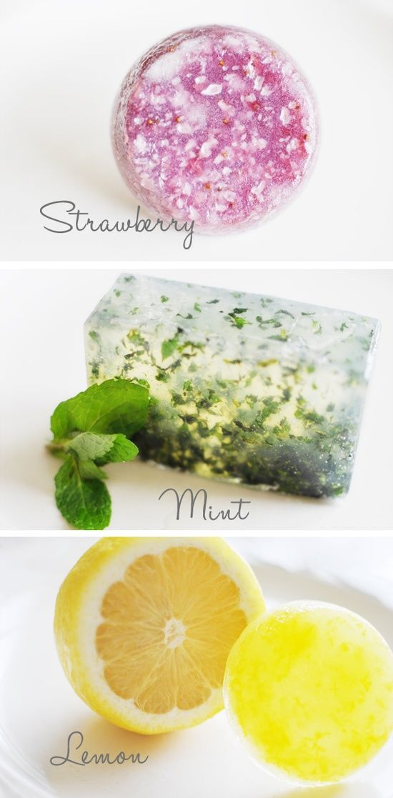 Homemade soaps - great gift idea for holidays or a housewarming party.