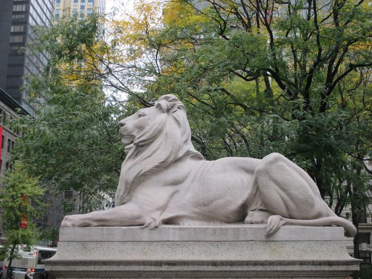These two massive Tennessee marble lions, dubbed Patience and Fortitude, protect the New York Public Library http://ourtravelingblog.com/2015/11/18/stephen-a-schwarzman-new-york-public-library/