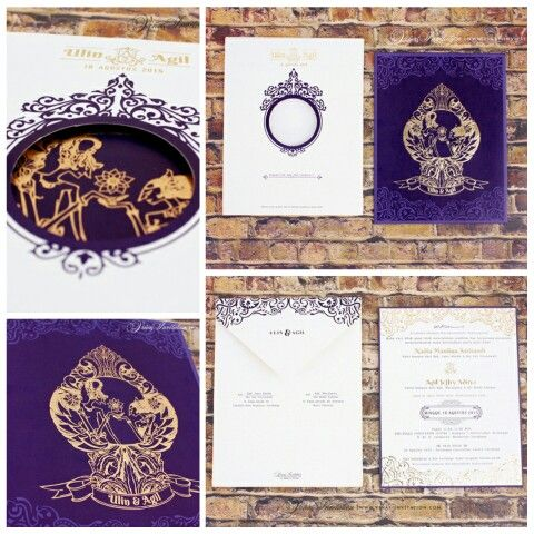 Vinas invitation. Traditional theme. Wayang theme. Design invitation. Custom invitation. Indonesian wedding. Indonesia invitation. Any question please visit us at website www.vinas-invitation.com.. courtesy of Ulin and Agil
