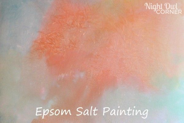 Epsom salt painting is a fun kids craft with a surprise ending!