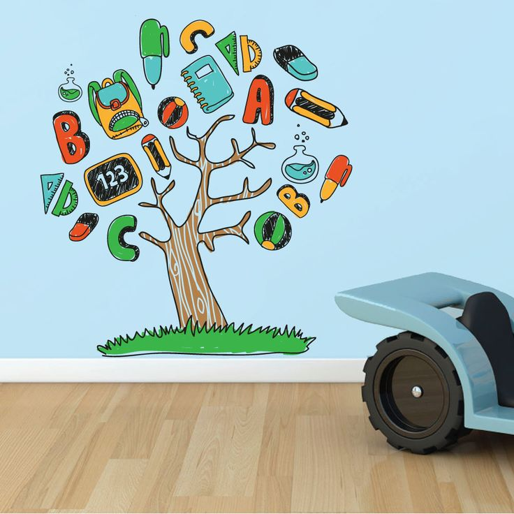 Αυτοκόλλητα τοίχου για παιδικό δωμάτιο - ΔΕΝΤΡΟ ΤΗΣ ΓΝΩΣΗΣ  Σετ από παιδικά αυτοκόλλητα τοίχου(1 καρτέλα 55x130 εκ).  Η τοποθέτηση γίνεται εύκολα και γρήγορα , χωρίς να αφήνουν κανένα σημάδι κατά την αφαίρεση τους.        Η παράδοση γίνεται σε 4 εργάσιμες ημέρες.