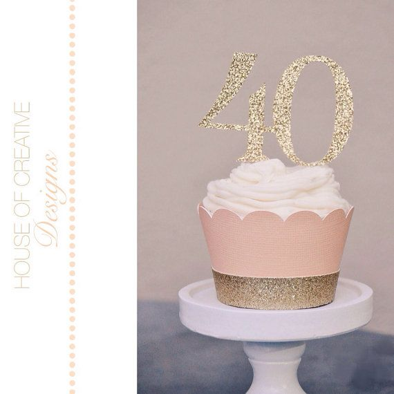 By House Of Creative Designs cupcake Wrapper with Glitter Cuff on Etsy,