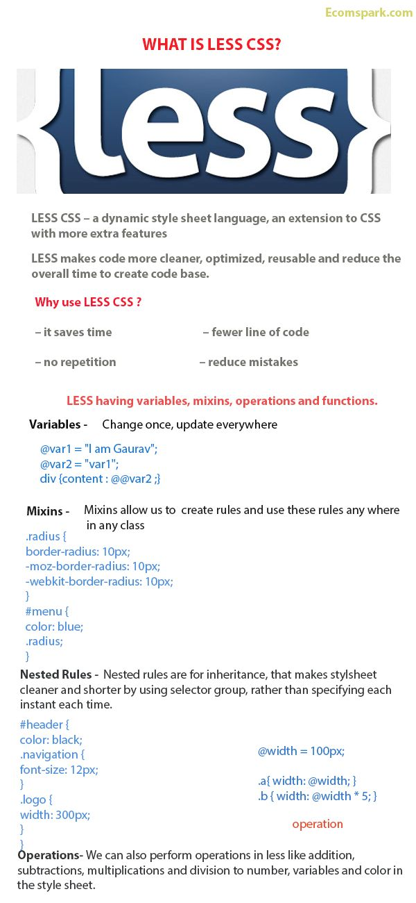What is LESS CSS, LESS CSS Tutorial, LESS CSS Basics |