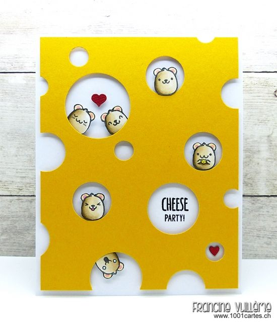 Hello everyone! Today, I'm featuring the Mouster stamp set from Sweet Stamp Shop! Here is what I came up with:     This stamp set is probably one of my favorite Sweet set. It's so versatile and the