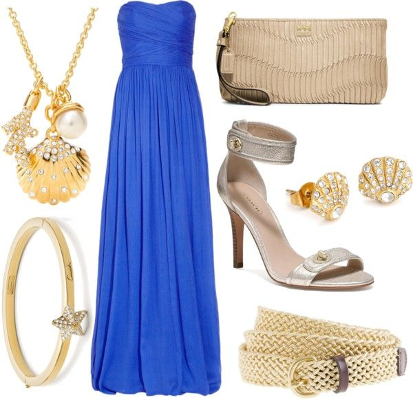 I have a short version of this dress... Blue & gold!!
