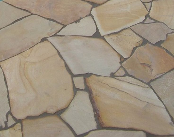 Himalayan Sandstone Crazy Paving: pieces are approx 300-700mm in Diameter.  Thickness variation 18mm-25mm. Surface is natural split and will give a non-slip surface to your stone paving.  SALE PRICE: $39per/m2