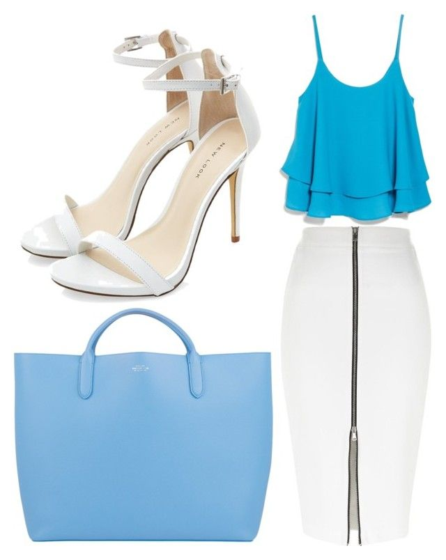 """classy summer look"" by fatmacelen on Polyvore featuring River Island, MANGO and Smythson"