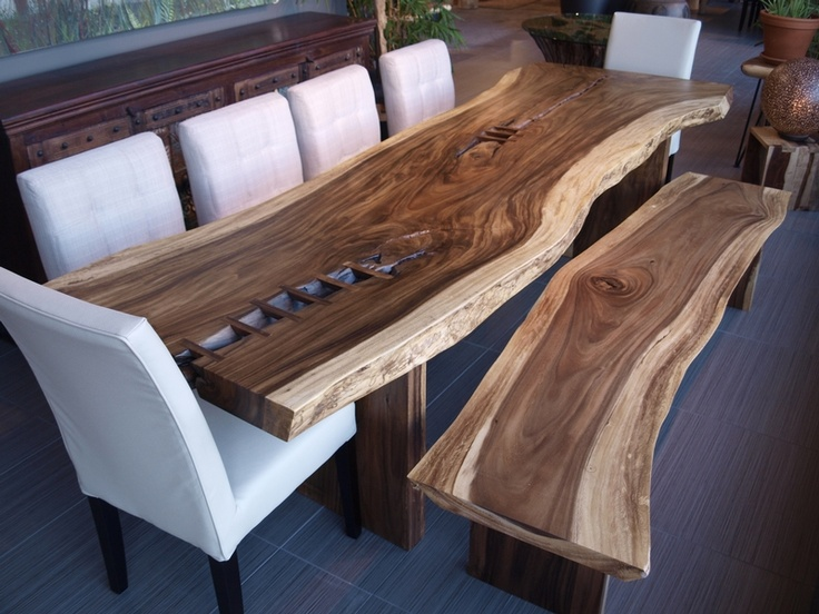 table freeform en bois de suar dining room pinterest