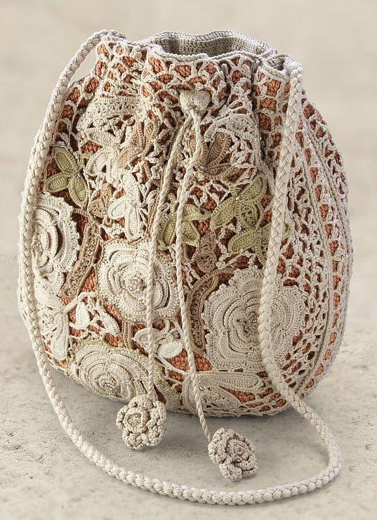 Приглашаю повязать вместе вот такую ирландскую сумочку на форуме Дарьевна . Кроме этого фото ничего нет, так что будем фантазировать. Я б...