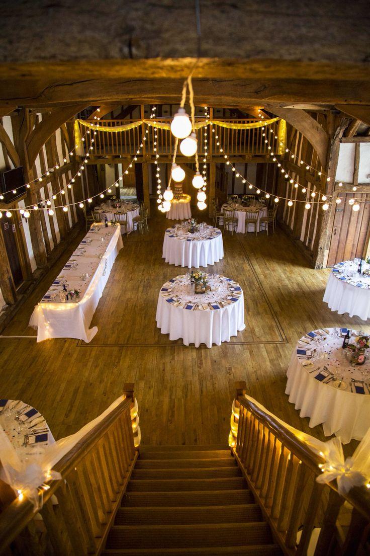 Festoon lights in Tudor Barn