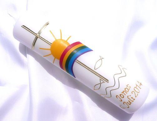 Taufkerzen - Taufkerze Kommunionkerze Junge Mädchen 2062-2g - ein Designerstück von Kerzenboutique bei DaWanda