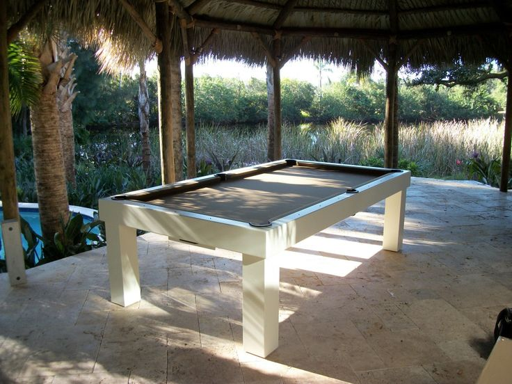 All Weather Pool Table. Not Enough Room Inside The House, Put A Pool