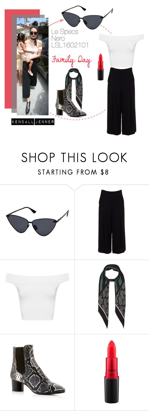 """Kendall Jenner: Family Day"" by visiondirect ❤ liked on Polyvore featuring Le Specs, Diane Von Furstenberg, WearAll, Rockins, Isabel Marant, MAC Cosmetics, FamilyDay, sunnies, kendalljenner and cateyesunglasses"