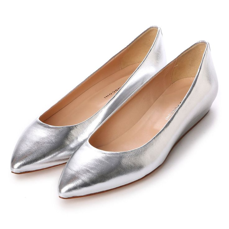 Fabio Rusconi Pointed Pumps Silver - This is such a favorite I bought it twice, after first one became too tired looking