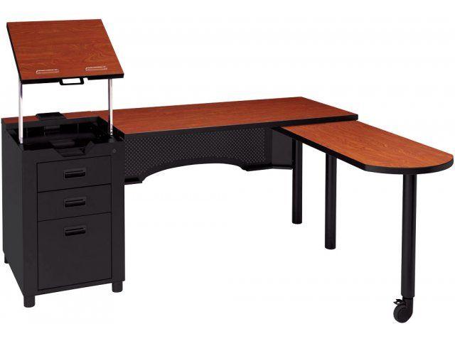 Deluxe Nate Teacher's Desk with Integral Pedestal ACD-2468, Teacher Desks // Current sale price, $869.00. Love this desk!