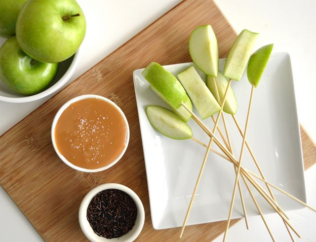 Caramel Apple Bar for a fall party.  Could use fondue fountain for this.