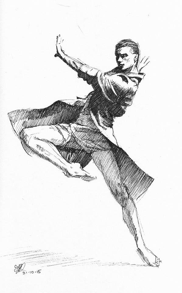 Dancing man. #inktober 28