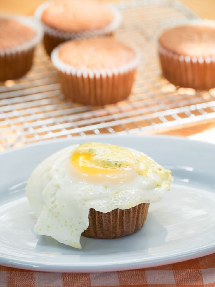 Bacon Breakfast Cupcake recipe from Tregaye Fraser via Food Network-I would try a different topping rather than the egg