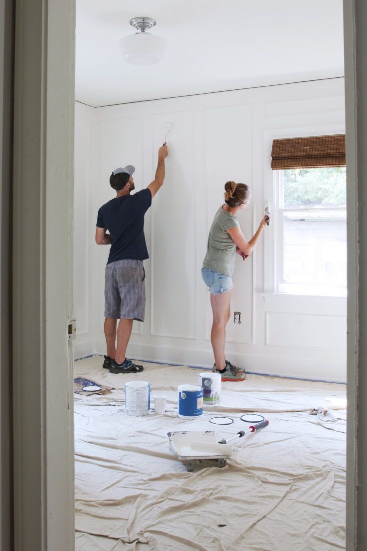 Diy How To Install Panel Moulding The Grit And Polish Wall Paneling Diy Diy Molding Panel Moulding