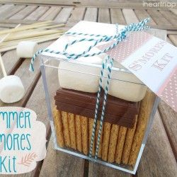 Summer S'mores Kit with free printable! Fun!!