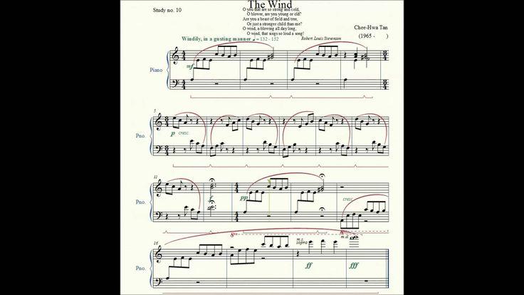 Study no. 10: The Wind - Chee-Hwa Tan - Piano Studies/Etudes 2