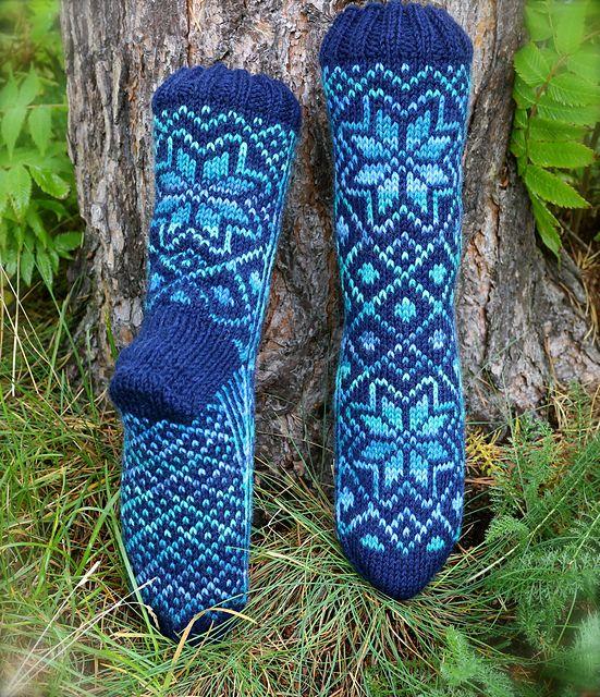 Ravelry: Stjernesokk pattern by Gro Andersen