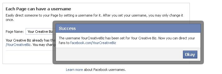 How to create your own vanity URL for your Facebook Page.