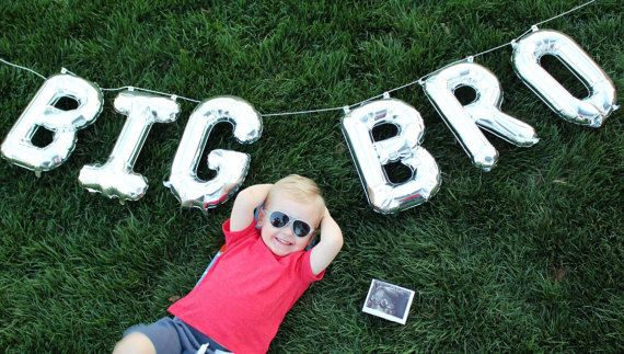 BIG BRO Balloon Letter Kit Big Bro Banner Big Bro by girlygifts07