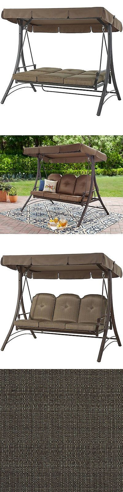 Swings 79700: Outdoor Patio Furniture 3 Person Swinging Garden Bench Hammock With Canopy Shade -> BUY IT NOW ONLY: $221.85 on eBay!