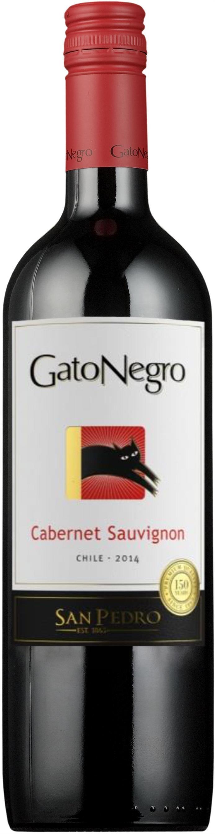 Gato Negro Cabernet Sauvignon -punaviini. 7,28€