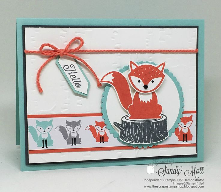 Stampin' Up! Foxy Friends Hello - created by Sandy Mott