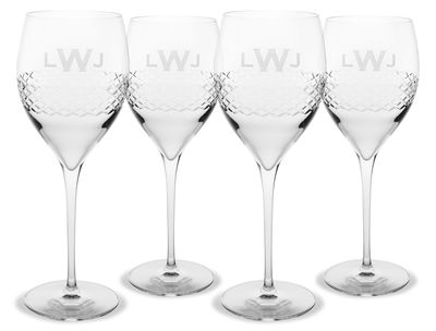 Monogrammed Diamond Cut Wine Glass SetCut Wine, 2014 Contest, Studios Hostess, Stationery Studios, Studios Fathers, Glasses Sets, Wine Glasses, Perfect Wine, Gift Contest