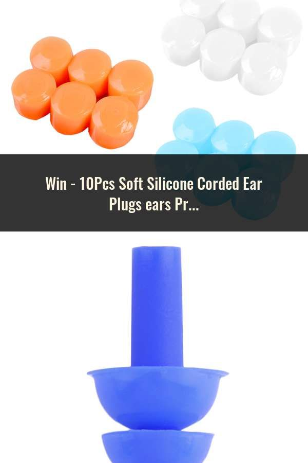 10pcs Soft Silicone Corded Ear Plugs Ears Protector Reusable Hearing Protection Noise Reduction Earplugs Earmuff Back To Search Resultssecurity & Protection